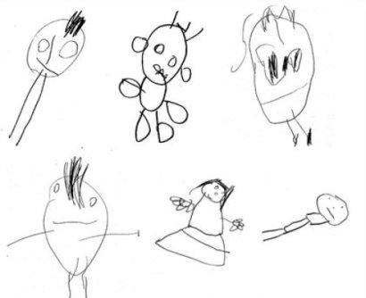 """Gli """"scarabocchi"""" dei bambini, i primi passi verso la scrittura"""